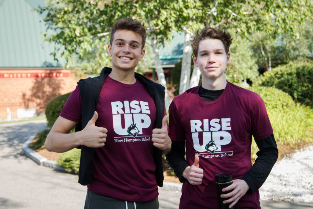 During orientation, students bonded over the school theme, Rise Up.