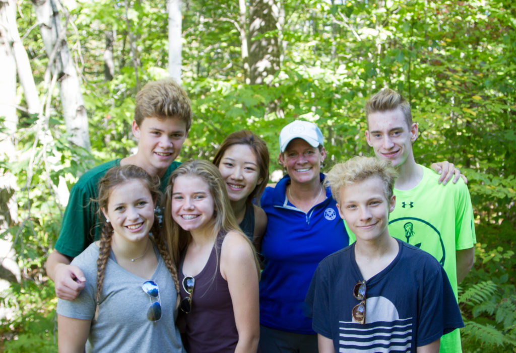 Advisory groups hiked together to the top of Burleigh Mountain.