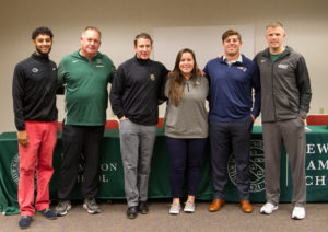 Alumni panelists and guests enlighten students on the college recruiting process