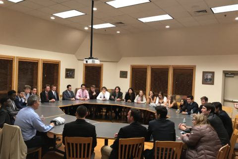 Rich Ryan meets with NHS students