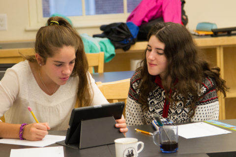 Students learn perseverance at New Hampton School through student directed learning and problem solving.