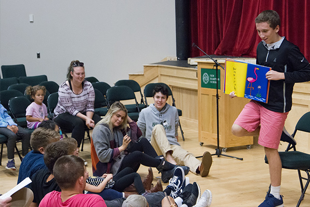 Ian took Public Speaking at New Hampton School to try something new and challenge himself.