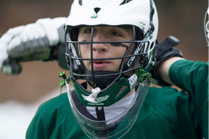Ian plays on the JVLax team and participates fully in the community.