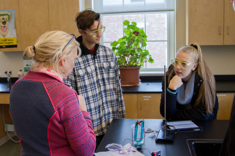 New Hampton students reflect on shared ideas in chemistry class