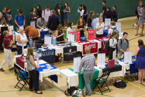 New Hampton School students participated in a mini-college fair this fall.