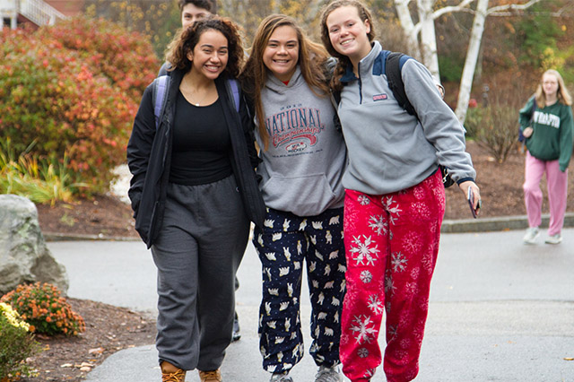 A look back on how students embraced Pajama Day during Spirit Week at New Hampton School.