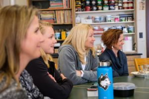 Female faculty and staff joined Schiot '98 for a lunch together.