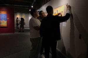 The student-curated exhibit provide opportunity for students to learn about art, culture, and opportunities.