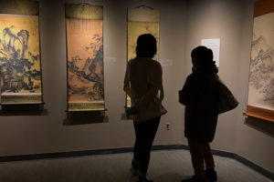 Dorothy Li curated an exhibit with artwork from Forbidden City museum in China.