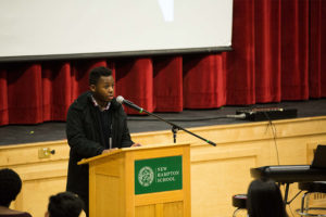 Students led a School Meeting in celebration of Martin Luther King Jr