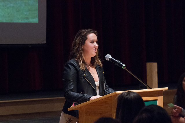 Current junior Allie Soper shared her family's personal story and the importance of making thoughtful decisions as well as educating her peers.