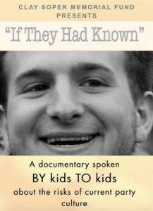 """""""If They Had Known"""" is a documentary movie by kids for kids about the current teen party culture and risks."""