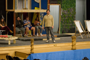 New Hampton students rehearse 12th night by William Shakespeare