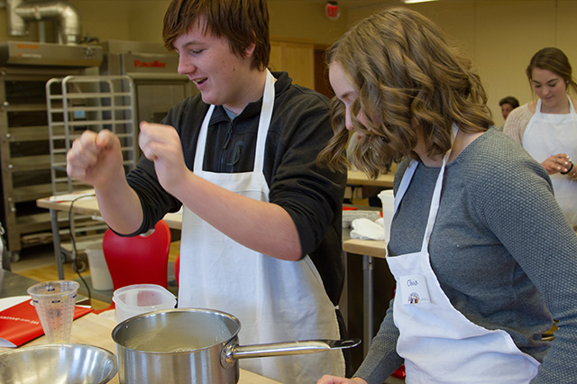 The Art and Science of Baking Project Week group spent a day at the King Arthur Flour Baking School last year.