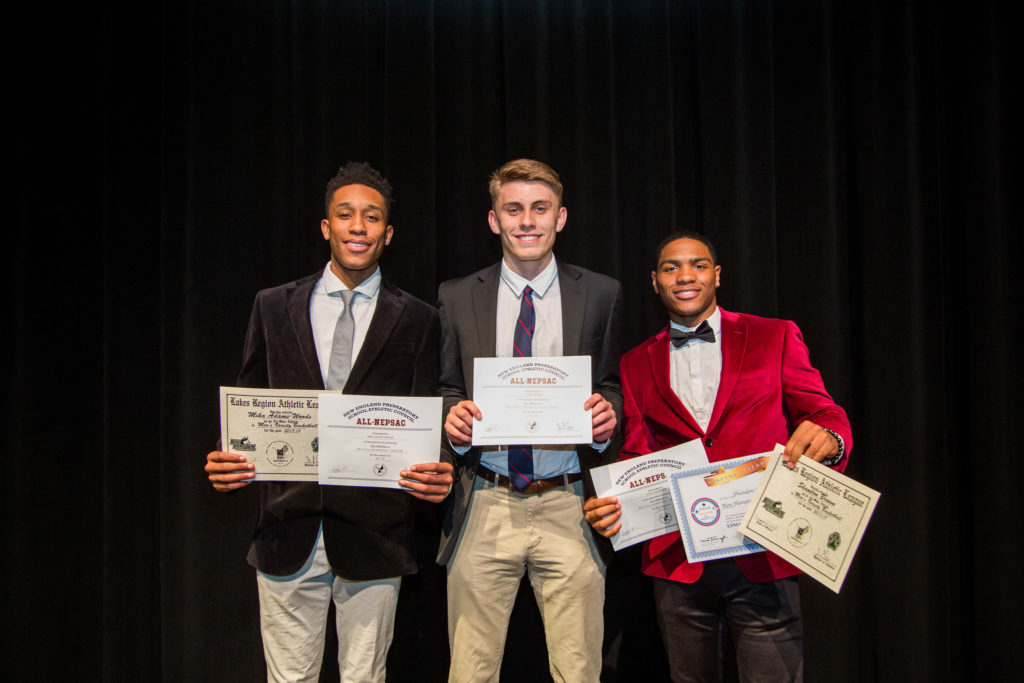 Mika Adams-Woods, Mason Webb, and Shandon Brown receive student-athlete awards