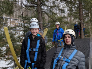 Winter Adventure in New Hampshire tries out the zip line at Gunstock Mountain.