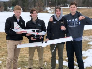 Project Flight practiced flying model planes and drones on campus yesterday.
