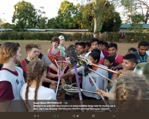 Teaching lacrosse, health, and life skills in Nicaragua.