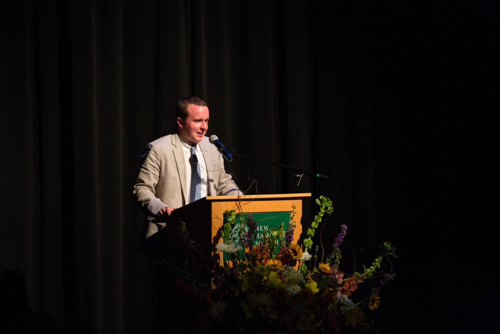 Greg Ladd speaks to the Class of 2018 at Baccalaureate on May 24.
