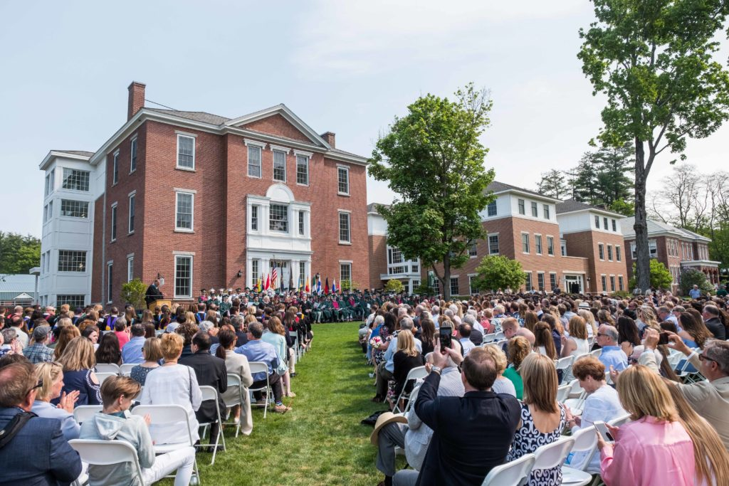 Academic Row on New Hampton's campus plays host to many events including Commencement.