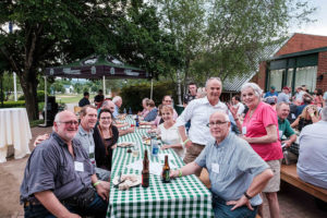 Reunion attendees enjoyed an evening outside on Friday evening.