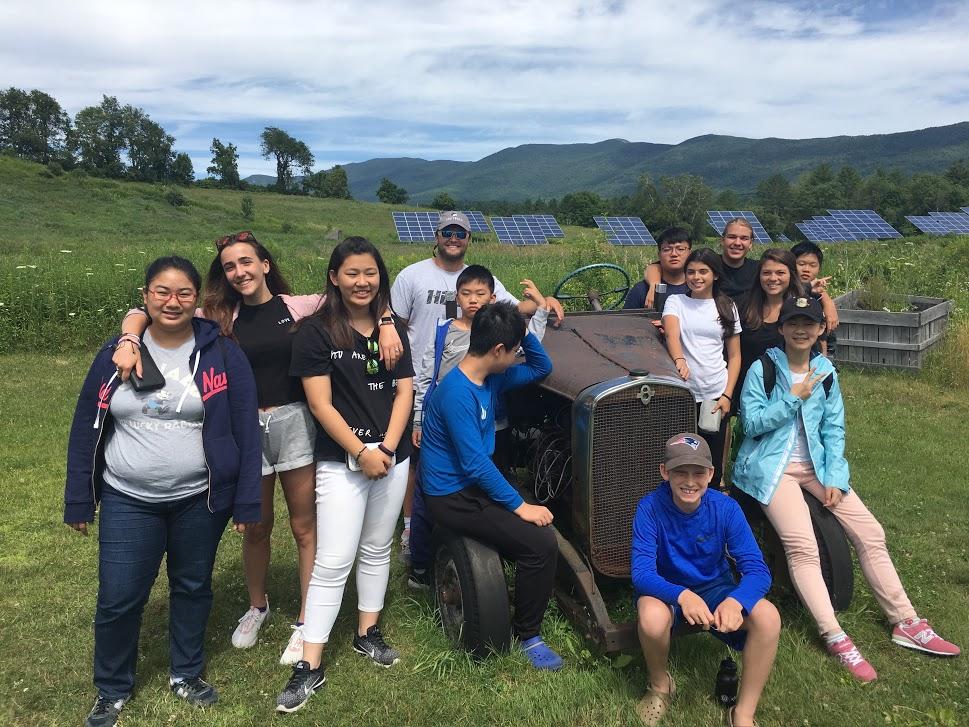 AELP students and faculty visiting an eco-farm where they learned about food security and permaculture.