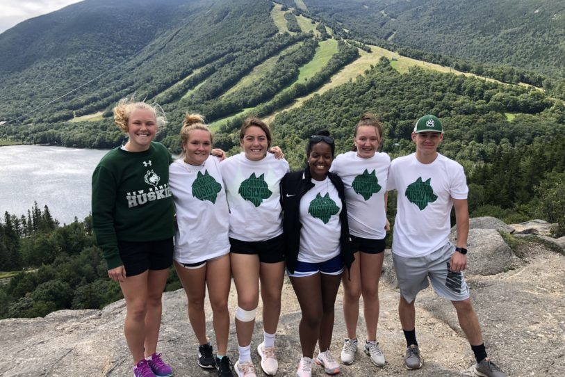 New Hampton School juniors on Bald Mountain
