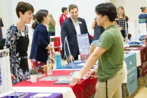 New Hampton students meet and speak with college representatives from schools across the country.