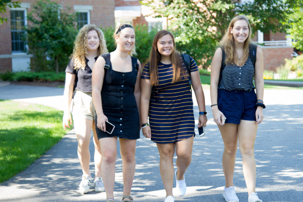 New Hampton School Students walking to class.