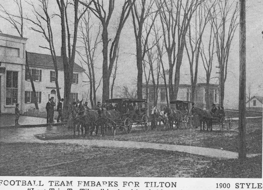Football Team embarks for Tilton School