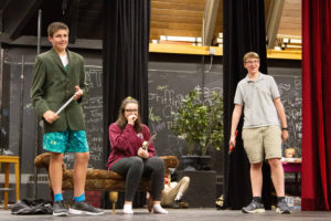 New Hampton Play Rehearsal: Clue On Stage