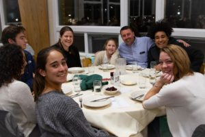 New Hampton School Friendsgiving in Memorial Dining Hall