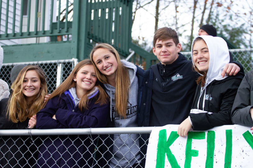 Fans at New Hampton School Powder Keg