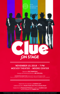 New Hampton School Clue On Stage Play Poster