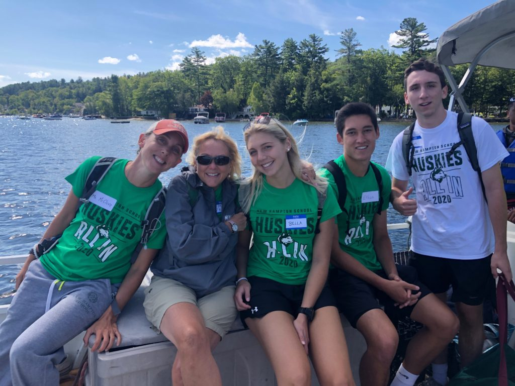 Out on the lake with Advisory Groups during Husky Weekend
