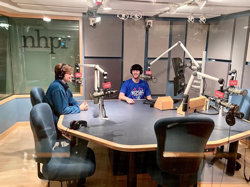 Our podcast project week took students to the studios of NHPR as well as Boston.