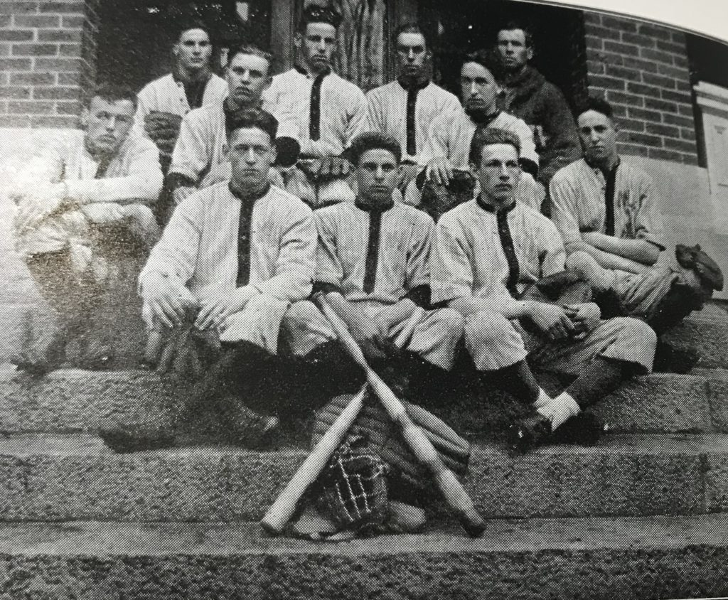 While Spanish influenza halted many activities on campus, but spring 1919 the school was playing baseball.