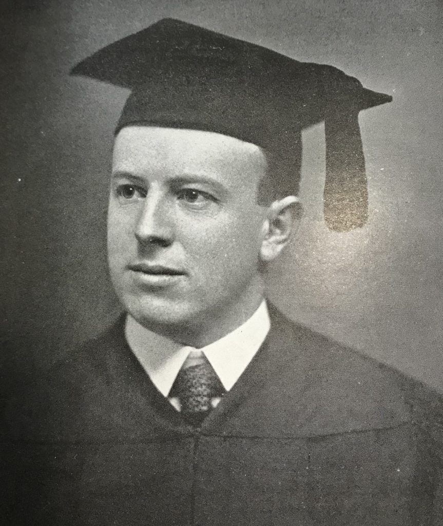 Dr. Lee Knapp '10 passed away from Spanish influenza in May 1918.