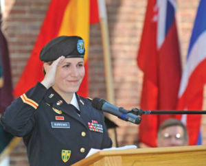 Military service members Alicia Burrows
