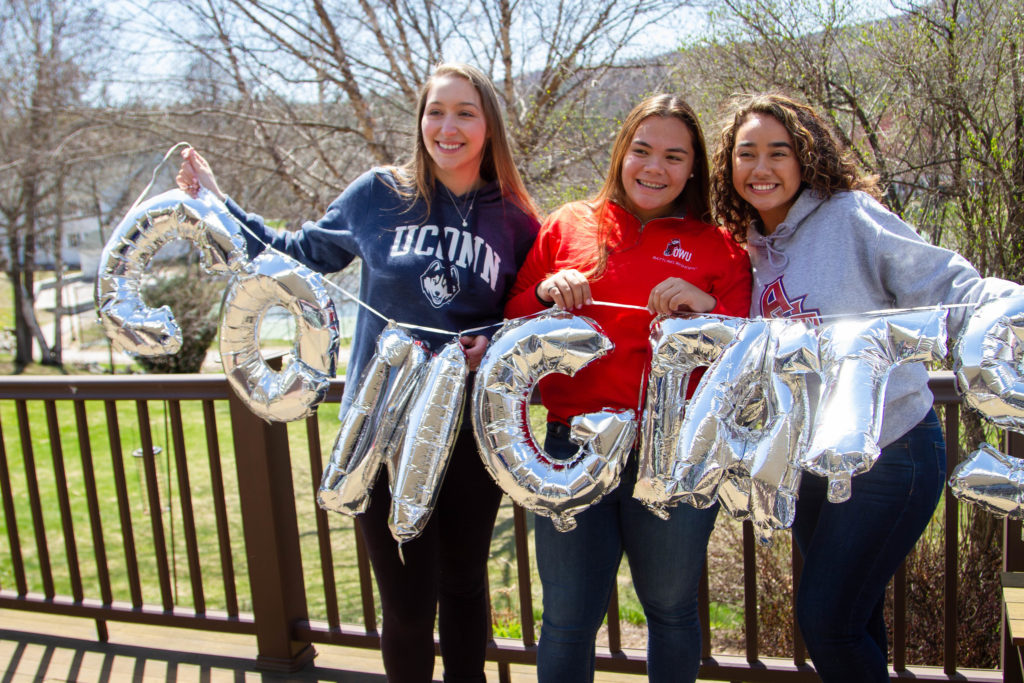 College celebrations begin in the spring prior to commencement.